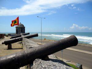 fortificazioni a Cartagena de Indias in Colombia