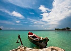 una spiaggia caraibica dell'isola del Rosario in Colombia