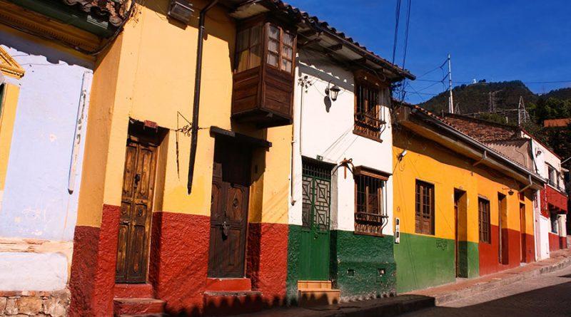il quartiere coloniale della Candelaria a Bogotà in Colombia