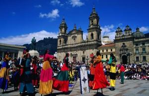 la piazza Bolivar di Bogotà in Colombia