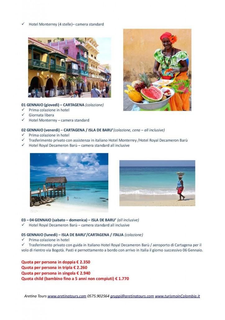 Capodanno nelle spiagge caraibiche della Colombia